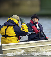 London, GREAT BRITAIN.  2002.Oxford University Boat Club Trail 8's.Putney to Mortlake. Dan Topolski Varsity: Boat Race [Mandatory Credit: Peter Spurrier: Intersport Images]