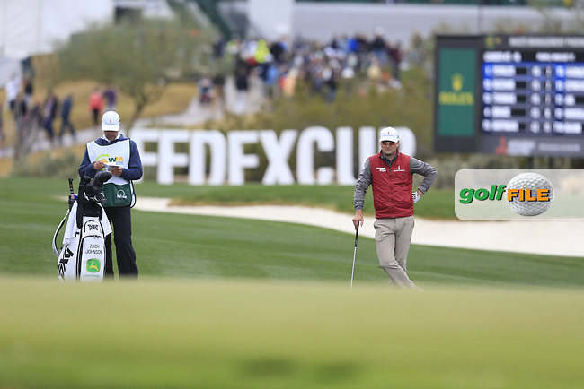 Zach Johnson (USA) on the 17th fairway during the final round of the Waste Management Phoenix Open, TPC Scottsdale, Scottsdale, Arisona, USA. 03/02/2019.<br /> Picture Fran Caffrey / Golffile.ie<br /> <br /> All photo usage must carry mandatory copyright credit (© Golffile | Fran Caffrey)