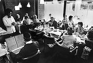 Paris, August 1977. Restaurant La Guillandiere. Vie Quotidienne des Juifs a Paris.