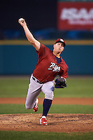 Lehigh Valley IronPigs pitcher Seth Rosin (40) delivers a pitch during a game against the Rochester Red Wings on July 4, 2015 at Frontier Field in Rochester, New York.  Lehigh Valley defeated Rochester 4-3.  (Mike Janes/Four Seam Images)