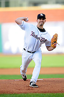 Taylor Cole (19) of the New Hampshire Fisher Cats delivers a pitch during a game versus the Richmond Flying Squirrels at Northeast Delta Dental Stadium on June 5, 2015 in Manchester, New Hampshire. (Ken Babbitt/Four Seam Images)