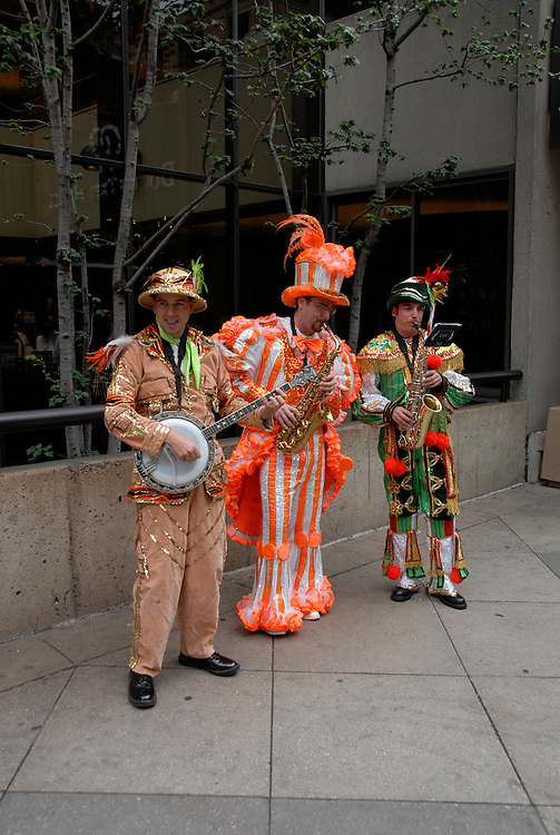 Mummers entertainers, mod rel..Philadelphia, Pennsylvania, PA USA.  Photo copyright Lee Foster, 510-549-2202, lee@fostertravel.com, www.fostertravel.com. Ph 300-30853