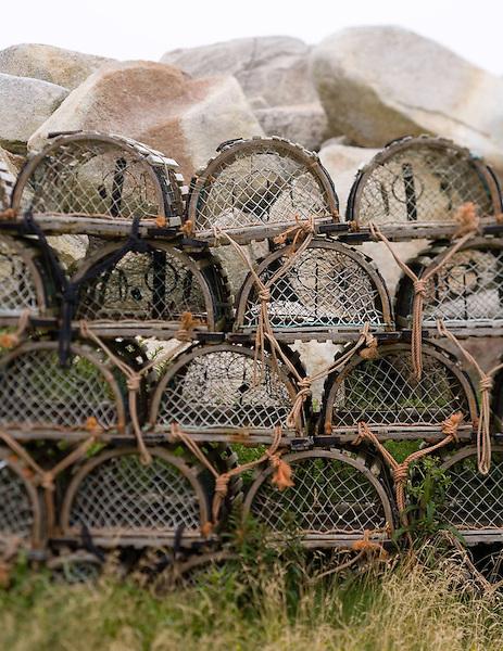 Lobster traps in John's Cove, Nova Scotia. Photo by Kevin J. Miyazaki/Redux
