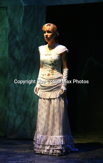 """Jenn Levy as Philipstown Depot Theatre presents The Secret Garden on November 15, 2009 in Garrison, New York. The musical The Secret Garden is the story of """"Mary Lennox"""", a rich spoiled child who finds herself suddenly an orphan when cholera wipes out the entire Indian village where she was living with her parents. She is sent to live in England with her only surviving relative, an uncle who has lived an unhappy life since the death of his wife 10 years ago. """"Archibald's son Colin"""", has been ignored by his father who sees Colin only as the cause of his wife's death.This is essentially the story of three lost, unhappy souls who, together, learn how to live again while bringing Colin's mother's garden back to life. (Photo by Sue Coflin/Max Photos)........"""