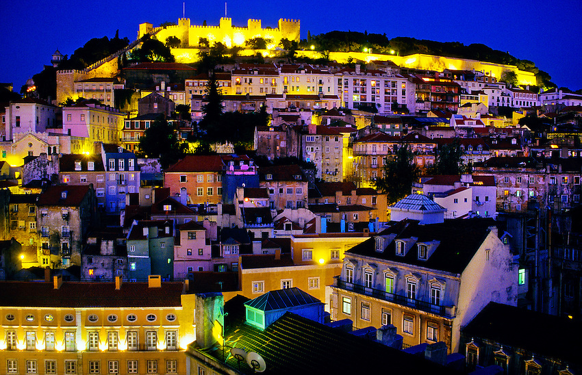 Castelo de Sao Jorge (castle), Lisbon, Portugal
