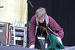 Drying the stage before Weezer on Day 1 of the Oxegen Festival, Punchestown, Co.Kildare...(Photo credit should read Jenny Matthews www.newsfile.ie)....This Picture has been sent you under the conditions enclosed by:.Newsfile Ltd..The Studio,.Millmount Abbey,.Drogheda,.Co Meath..Ireland..Tel: +353(0)41-9871240.Fax: +353(0)41-9871260.GSM: +353(0)86-2500958.email: pictures@newsfile.ie.www.newsfile.ie.