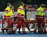England's Jack Butland gets stretchered off during the International Friendly match at Olympiastadion.  Photo credit should read: David Klein/Sportimage