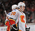 CURTIS GLENCROSS,  of the Calgary Flames in action  during the Flames  game against the Chicago Blackhawks at the United Center in Chicago, IL.  The Chicago Blackhawks beat the Calgary Flames 4-2 in Chicago, Illinois on December 5, 2011....