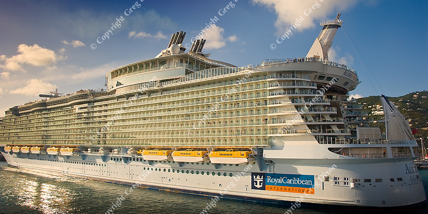 Royal Caribbean's Allure of the Sea, the largest cruise ship in the world, pictured in the St. Thomas harbor on Feb. 8, 2012