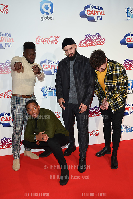 LONDON, UK. December 08, 2018: Rak-Su at Capital&rsquo;s Jingle Bell Ball 2018 with Coca-Cola, O2 Arena, London.<br /> Picture: Steve Vas/Featureflash