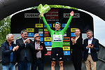 Edvald Boasson Hagen (NOR) Team Dimension Data wins Stage 1 and also wears the first points Green Jersey of the Criterium du Dauphine 2019, running 142km from Aurillac to Jussac, France. 9th June 2019<br /> Picture: ASO/Alex Broadway | Cyclefile<br /> All photos usage must carry mandatory copyright credit (© Cyclefile | ASO/Alex Broadway)