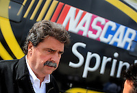 Sept. 20, 2008; Dover, DE, USA; Nascar Sprint Cup Series president Mike Helton during practice for the Camping World RV 400 at Dover International Speedway. Mandatory Credit: Mark J. Rebilas-
