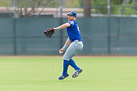 Team Italy outfielder Federico Celli (28) warms up before an exhibition game against the Oakland Athletics at Lew Wolff Training Complex on October 3, 2018 in Mesa, Arizona. (Zachary Lucy/Four Seam Images)