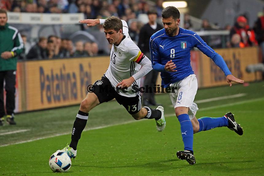 Thomas Müller (D) gegen Thiago Motta (ITA) - Deutschland vs. Italien, Allianz Arena München