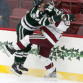 Tim Shoup (Dartmouth - 5), Colin Blackwell (Harvard - 63) - The Harvard University Crimson defeated the Dartmouth College Big Green 5-2 to sweep their weekend series on Sunday, November 1, 2015, at Bright-Landry Hockey Center in Boston, Massachusetts. -