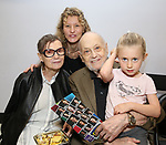 Barbara Siman, Victoria Strouse, Charles Strouse and Granddaughter during the Children's Theatre of Cincinnati presentation for composer Charles Strouse of 'Superman The Musical' at Ripley Grier Studios on June 8, 2018 in New York City.