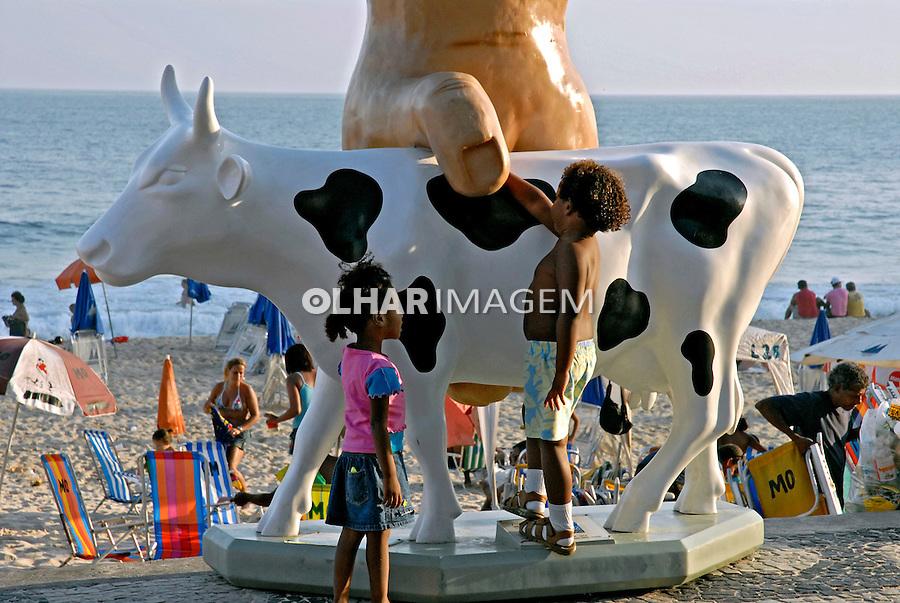Exposição de arte Cow Parade. RJ. 2007. Foto de Pedro Stabile