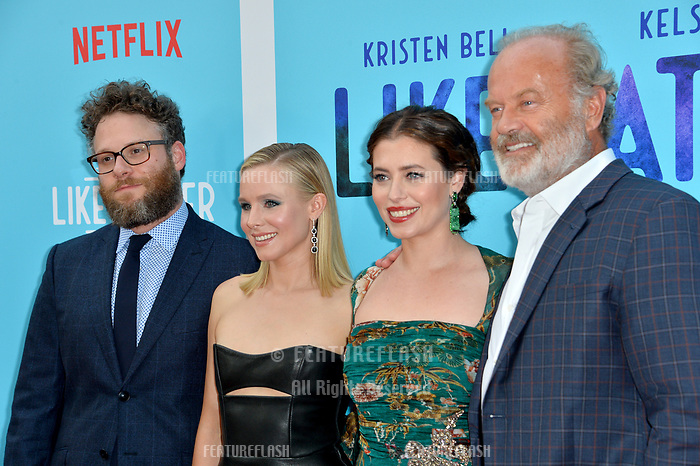 "Seth Rogen, Kristen Bell, Lauren Miller Rogen & Kelsey Grammer at the Los Angeles premiere of ""Like Father"" at the Arclight Theatre, Los Angeles, USA 31 July 2018<br /> Picture: Paul Smith/Featureflash/SilverHub 0208 004 5359 sales@silverhubmedia.com"