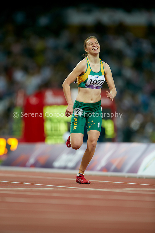 Australia's Torita Isaac finishes a credible 7th in the women's T38 200m final at the London Paralympic Games - Athletics 6.9.12