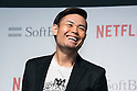 Member of Comedian Group Shinagawa Shoji, Hiroshi Shinagawa attends a media event to announce a business alliance for the Netflix video delivery service in Japan on August 24, 2015, Tokyo, Japan. From September 2nd SoftBank's 37 million users will be able to access a Netflix Inc. subscription starting at 650 JPN (5.34 USD) for a Standard SD plan. The companies also plan to work on joint content creation projects. (Photo by Rodrigo Reyes Marin/AFLO)