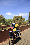 Israel, Tel Aviv. Hayarkon Park by the Yarkon river