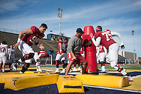 El Paso, TX - December 27, 2016: The Stanford Cardinal prepares for the Sun Bowl in El Paso, Texas.