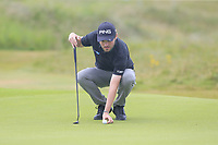 Cormac Sharvin (NIR) on the 17th green during Saturday's Round 3 of the Dubai Duty Free Irish Open 2019, held at Lahinch Golf Club, Lahinch, Ireland. 6th July 2019.<br /> Picture: Eoin Clarke | Golffile<br /> <br /> <br /> All photos usage must carry mandatory copyright credit (© Golffile | Eoin Clarke)