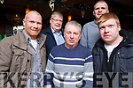 Staff members from Corcoran Catering equipment enjoy their Xmas party in the party Brogue Inn on Saturday night last.  <br /> L-R Owen Brosnan, Billy Casey, Billy Brosnan, Dan Brosnan and Con Casey
