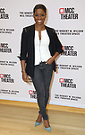 """Montego Glover attends the rehearsal photo call for the MCC Theater's production of """"All The Natalie Portmans"""" on January 15, 2019 in New York City."""