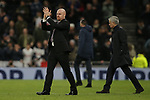 Burnley's manager Sean Dyche applauds the fans after the Premier League match at the Tottenham Hotspur Stadium, London. Picture date: 7th December 2019. Picture credit should read: Paul Terry/Sportimage