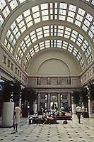 Washington D.C. : Union Station, Interior. If I remember rightly, this is the ticket-waiting room lobby, and probably all new in design. Photo '91.