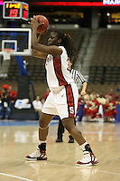 18 March 2006: Eziamaka Okafor during Stanford's 72-45 win over Southeast Missouri State in the first round of the NCAA Women's Basketball championships at the Pepsi Center in Denver, CO.