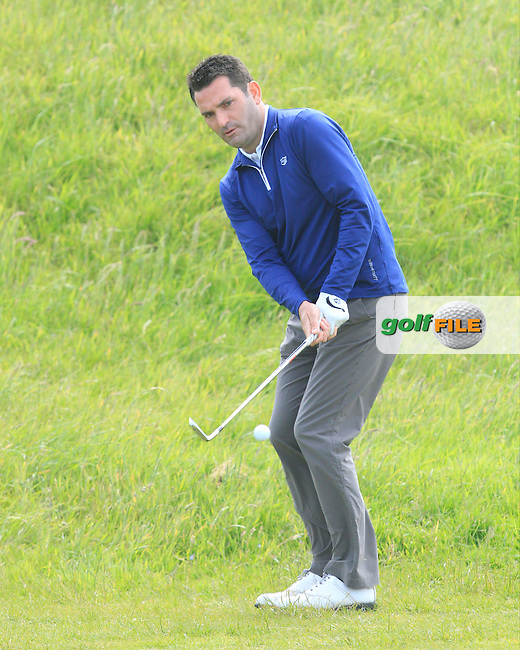 Gary O'Flaherty (Cork) on the 9th during Round 4 of the Irish Amateur Close Championship at Seapoint Golf Club on Monday 9th June 2014.<br /> Picture:  Thos Caffrey / www.golffile.ie