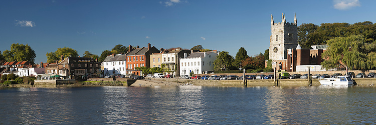 Panorama of Isleworth by the River Thames, Middlesex, near London, Uk