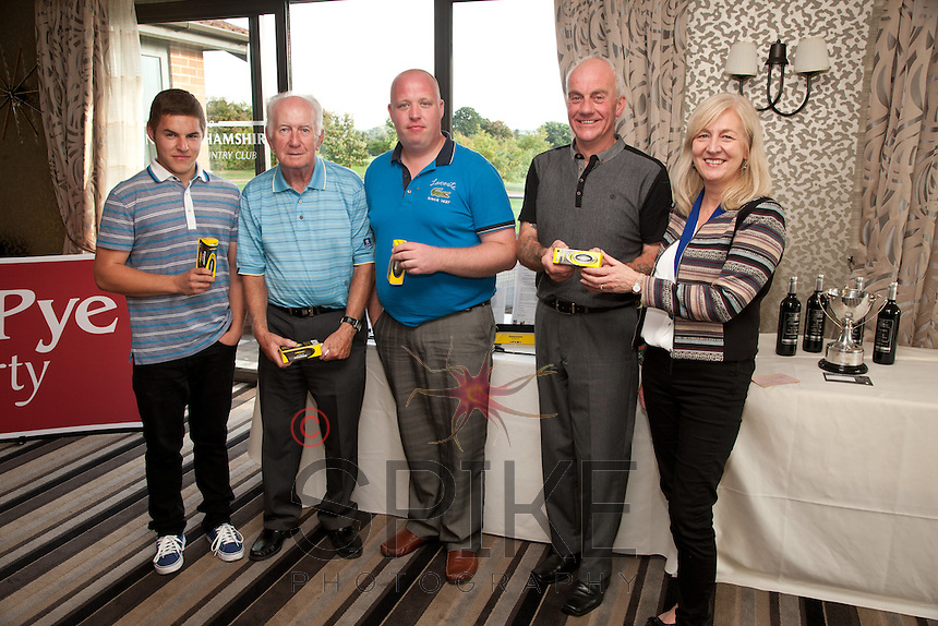 Prizes for Giorgio Labbate, Tom Moran, Andi Marriott and Trevor Occleshaw with NCBC Chairman Dianne Allen