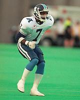 Carl Brazley Toronto Argonauts 1992. Copyright photograph Scott Grant