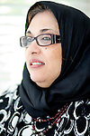 For a Brian Knowlton FF story on Muslim women in the US..USA, Peachtree City, GA. 11, NOVEMBER, 2010. Soumaya Khalifa, who created the Islamic Speakers Bureau based in Atlanta, Georgia poses for a portrait in her home in Peachtree City, Georgia... //// KENDRICK BRINSON/LUCEO for the International Herald Tribune