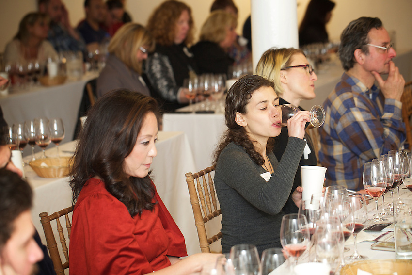 New York, NY - March 8, 2016:Sip New York presents the NY Drinks NY wine tasting conference, featuring wine from New York State.<br /> <br /> CREDIT: Clay Williams for Sip New York<br /> <br /> &copy; Clay Williams / claywilliamsphoto.com