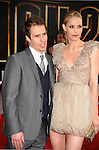 "HOLLYWOOD, CA. - April 26: Sam Rockwell and Leslie Bibb arrive at the ""Iron Man 2"" World Premiere held at the El Capitan Theatre on April 26, 2010 in Hollywood, California."
