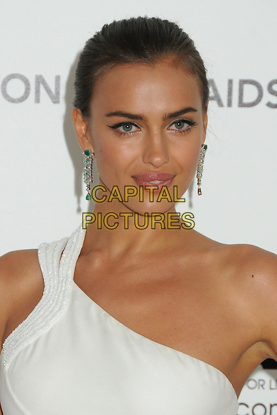 Irina Shayk (Shaykhlislamova).20th Annual Elton John Academy Awards Viewing Party held at West Hollywood Park, West Hollywood, California, USA..February 26th, 2012.headshot portrait white one shoulder diamond necklace .CAP/ADM/BP.©Byron Purvis/AdMedia/Capital Pictures.