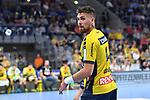 Rhein Neckar Loewe Bogdan Radivojevic (Nr.14)  beim Spiel in der Handball Bundesliga, Rhein Neckar Loewen - VfL Gummersbach.<br /> <br /> Foto &copy; PIX-Sportfotos *** Foto ist honorarpflichtig! *** Auf Anfrage in hoeherer Qualitaet/Aufloesung. Belegexemplar erbeten. Veroeffentlichung ausschliesslich fuer journalistisch-publizistische Zwecke. For editorial use only.