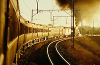 Rovos Rail hauled by steam on the last miles to Cape Town.