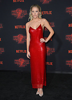 Maika Monroe at the premiere for Netflix's &quot;Stranger Things 2&quot; at the Westwood Village Theatre. Los Angeles, USA 26 October  2017<br /> Picture: Paul Smith/Featureflash/SilverHub 0208 004 5359 sales@silverhubmedia.com