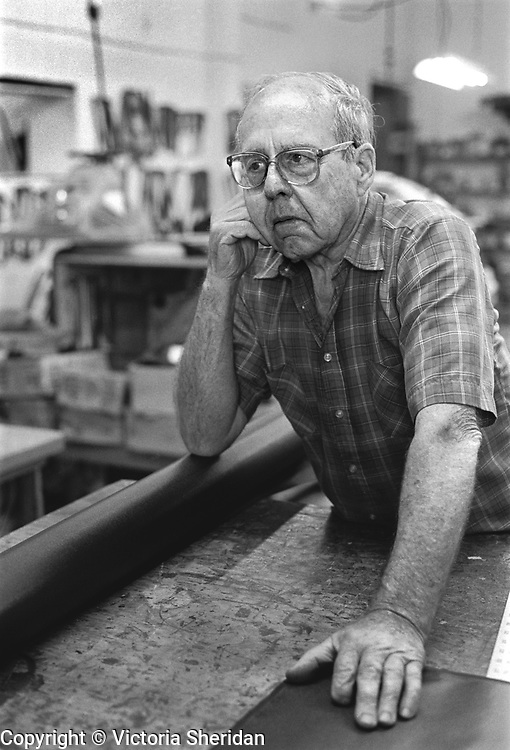 85 year old tool and die maker Mark Billings. Part of the Face of Labor portrait series. 1999 (Photo/Victoria Sheridan)
