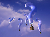 Question mark balloons