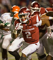 Hawgs Illustrated/BEN GOFF <br /> Chase Hayden, Arkansas running back, carries the ball in the 4th quarter against Florida A&M Thursday, Aug. 31, 2017, during the game at War Memorial Stadium in Little Rock.