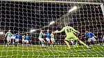 08.11.2019 League Cup Final, Rangers v Celtic: Fraser Forster saves from Alfredo Morelos