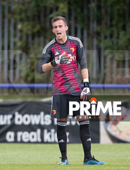 Goalkeeper Sam Howes of Watford during the Professonal Development League match between Watford U23 and Sheffield United U23 at The Maurice Rebak Stadium, Summers Lane, England on 17 August 2018. Photo by Andy Rowland.