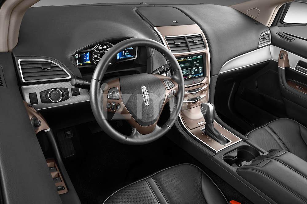 High angle dashboard view of a 2011 Lincoln MKX