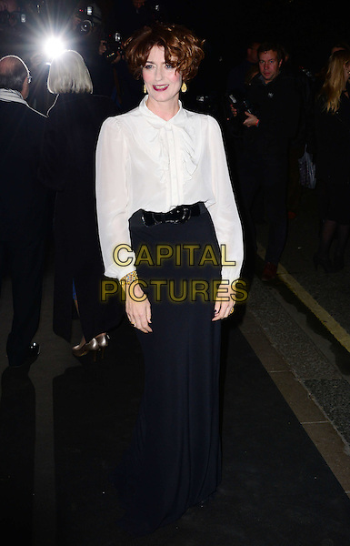LONDON, ENGLAND - NOVEMBER 17: Anna Chancellor at the London Evening Standard Theatre Awards at The Savoy November 17th, 2013 in London, England.  <br /> CAP/BF<br /> &copy;Bob Fidgeon/Capital Pictures